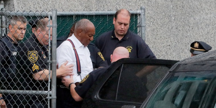 Image: Actor and comedian Bill Cosby leaves the Montgomery County Courthouse after sentencing in his sexual assault trial in Norristown