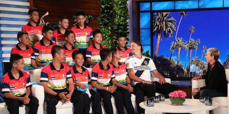 Ellen speaks to Thai soccer team