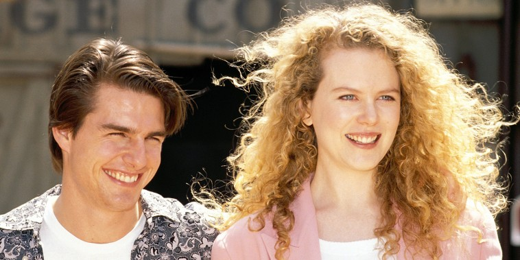 Image: Tom Cruise and Nicole Kidman at Universal Studios Theme Park in Los Angeles 1992