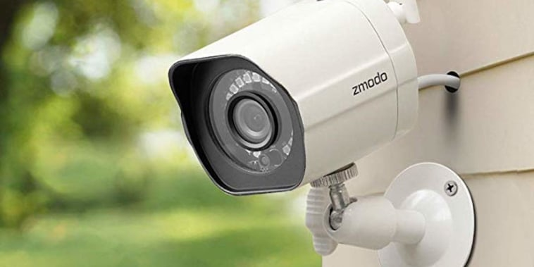 Zmodo wireless security camera installed outside