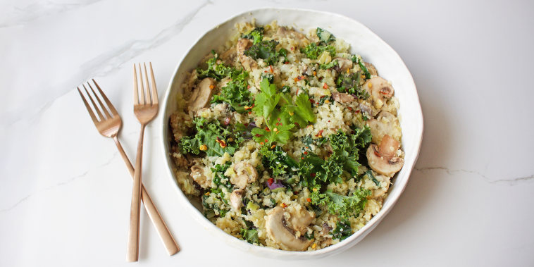 Kale and Cauliflower Fried Rice