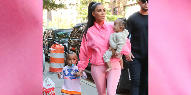 Kim Kardashian With Her Kids Arriving At Electric Lady Record Studio In New York