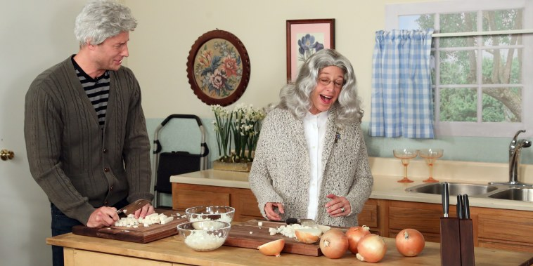 Ellen & Justin Hartley in 'This Is Onions'