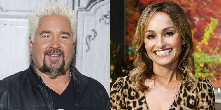 Giada de Laurentiis and Guy Fieri