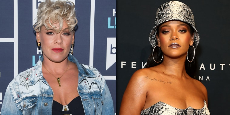 Rihanna and Pink