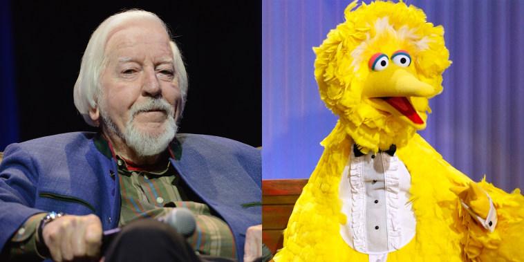 Big Bird and puppeteer Carroll Spinney