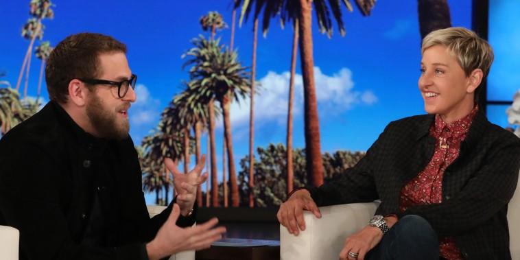 Ellen DeGeneres and Jonah Hill