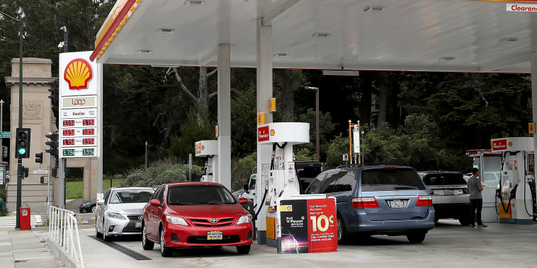 A Shell gas station on July 26, 2018 in San Francisco.