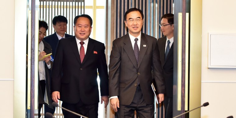 Image: South And North Korea Hold High-Level Talks In Panmunjom