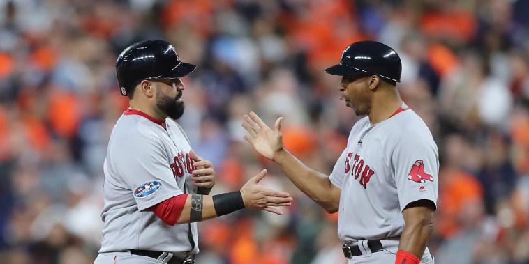 Image: League Championship Series - Boston Red Sox v Houston Astros - Game Three