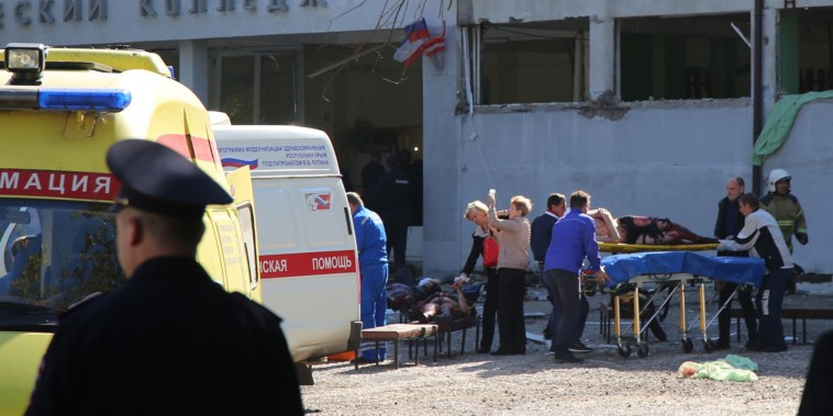 Image: Explosion and shooting in a school in Kerch in Crimea