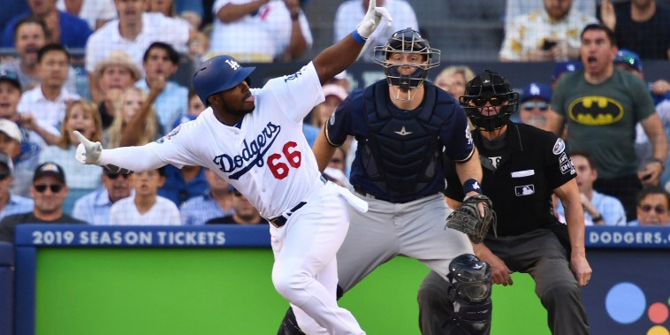 Image: MLB: NLCS-Milwaukee Brewers at Los Angeles Dodgers