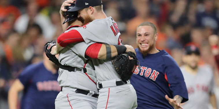 Image: League Championship Series - Boston Red Sox v Houston Astros - Game Five