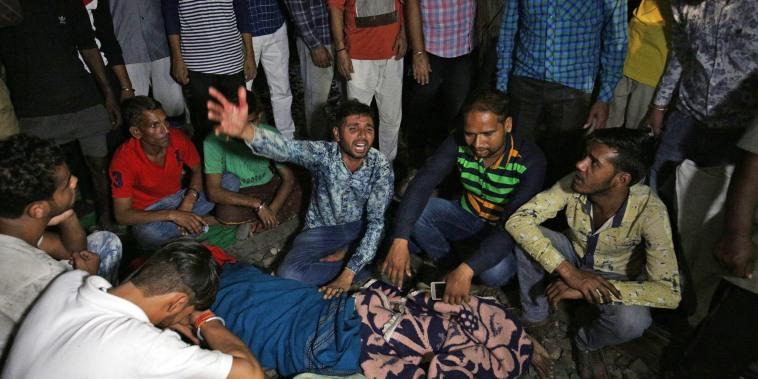 Image: Train accident kills 50 in Amritsar