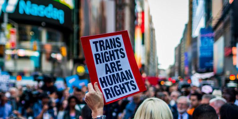 Image: Transgender rights protest