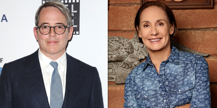 Matthew Broderick and Laurie Metcalf as Aunt Jackie