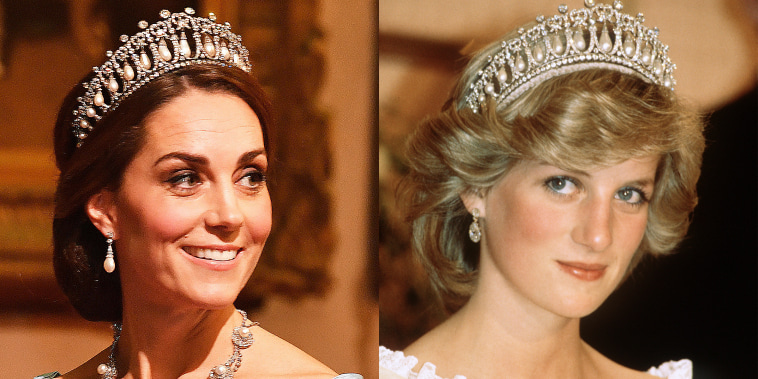 Duchess of Cambridge, Kate Middleton, Princess Diana, Kate Middleton tiara, Cambridge Lover's Knot tiara, Princess Diana tiara