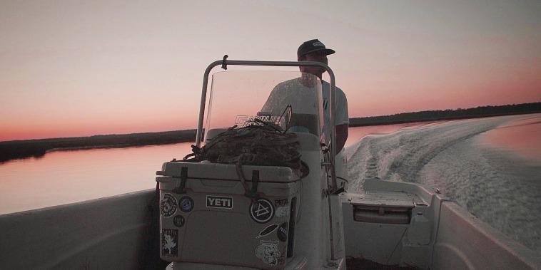 Oyster farmer Cainnon Gregg