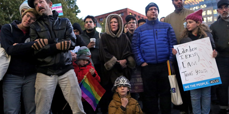 Image: Activists Hold Rally In New York City For Trans And GNC Rights