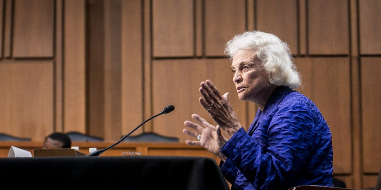 Former Supreme Court Justice Sandra Day O'Connor Testifies At Senate Hearing