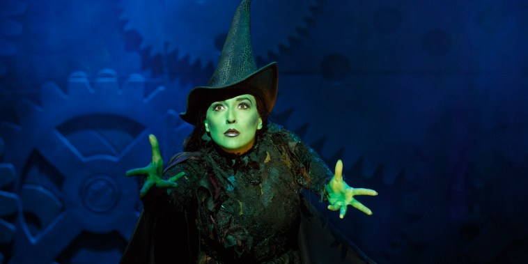 Jessica Vosk as Elphaba in Broadway's Wicked