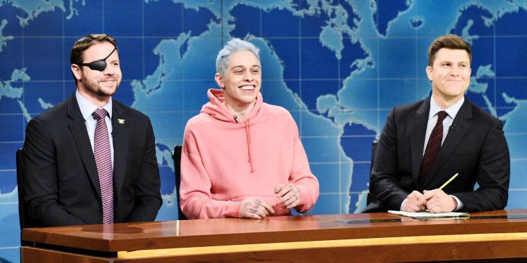 "Dan Crenshaw, Pete Davidson and Colin Jost on ""Saturday Night Live"""