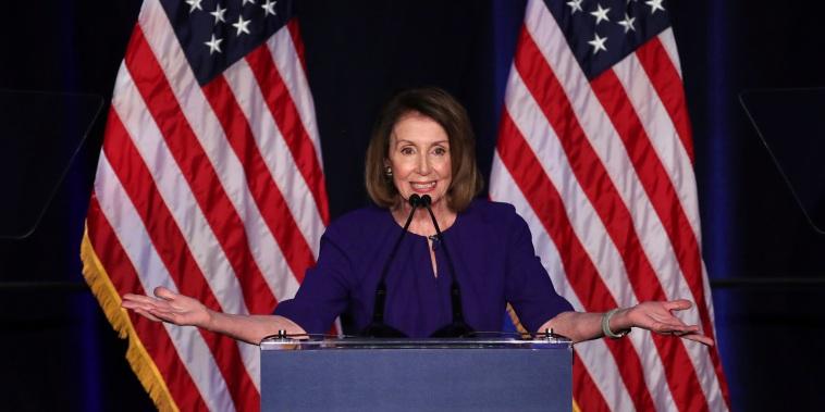 Image: U.S. House Minority Leader Nancy Pelosi reacts to U.S. midterm election results in Washington