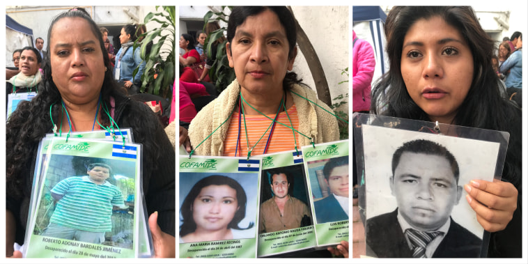 Women join the caravan of the disappeared to search for their missing loved ones.