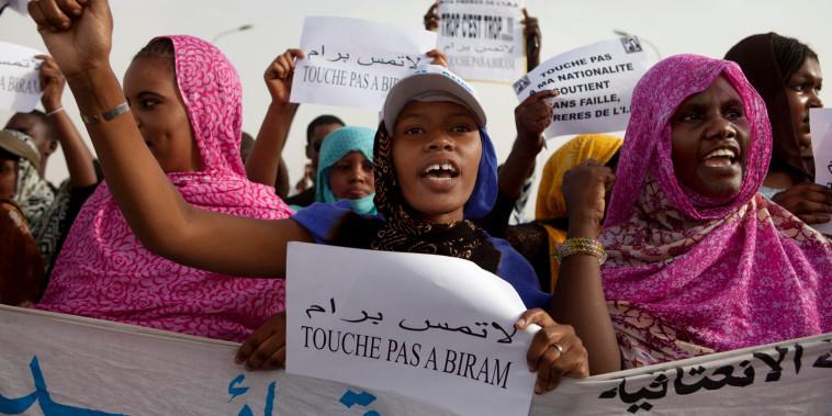Image: Mauritanian anti-slavery protesters