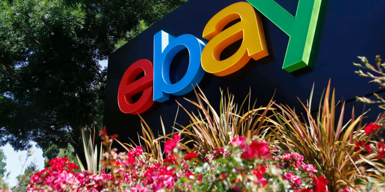 Image: File photo of an eBay sign at an office building in San Jose California