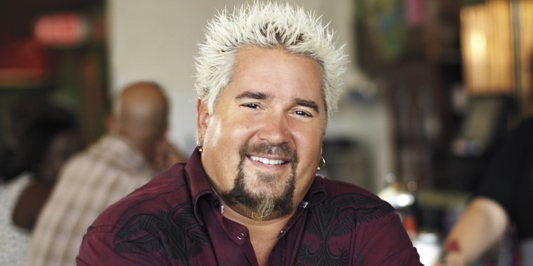 Guy Fieri makes dinner for California firefighters