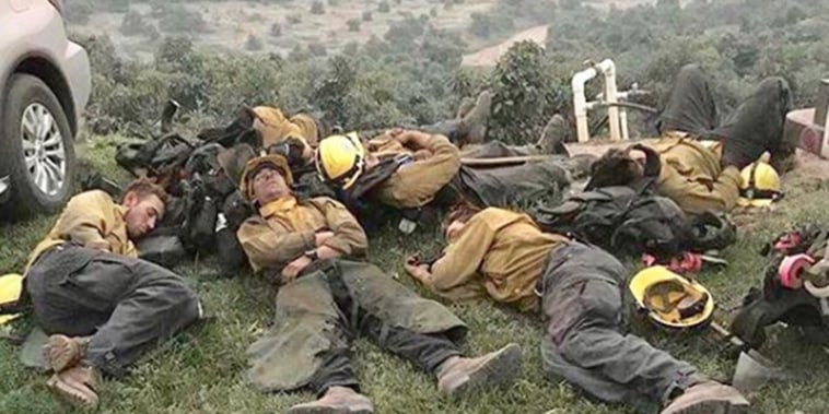 Sleeping firefighters in 2017
