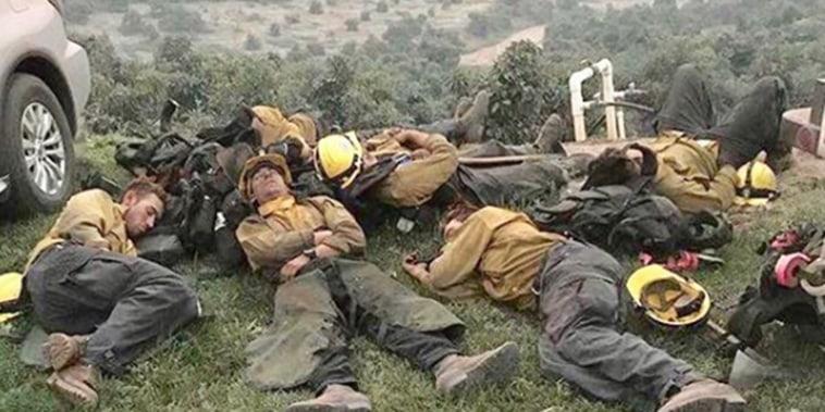 Sleeping firefighters in 2017
