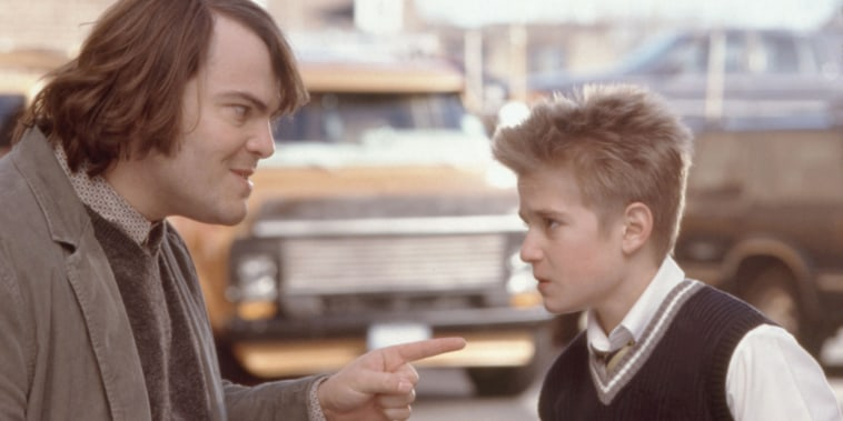 "Jack Black reuniting with the kid drummer from ""School of Rock."""