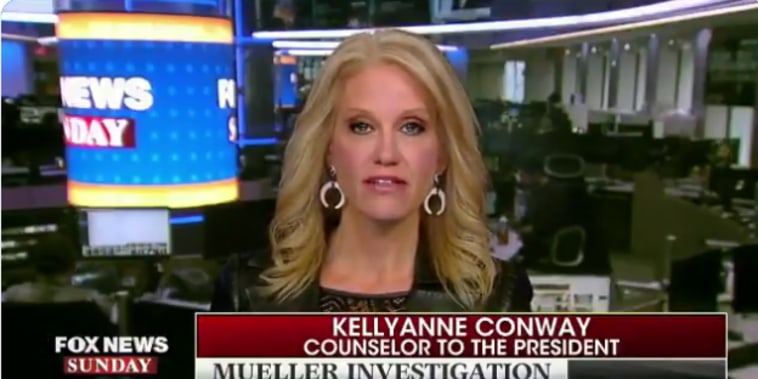 Kellyanne Conway, counselor to the president, on FoxNewsSunday.