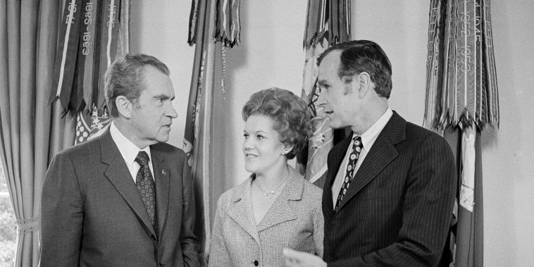 Richard Nixon, George H.W. Bush, George Bush, Janet Johnston