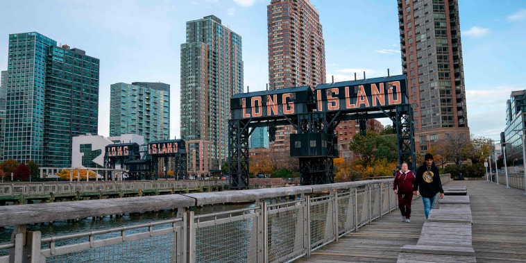Image: A view of the waterfront of Long Island City in the Queens borough of New York, along the East River, on Nov. 7, 2018.