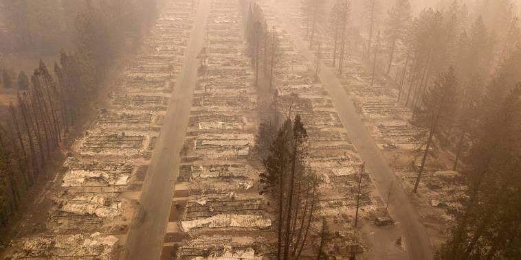 Image: Paradise wildfire aerial