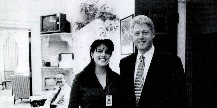 Monica Lewinsky meets with President Bill Clinton