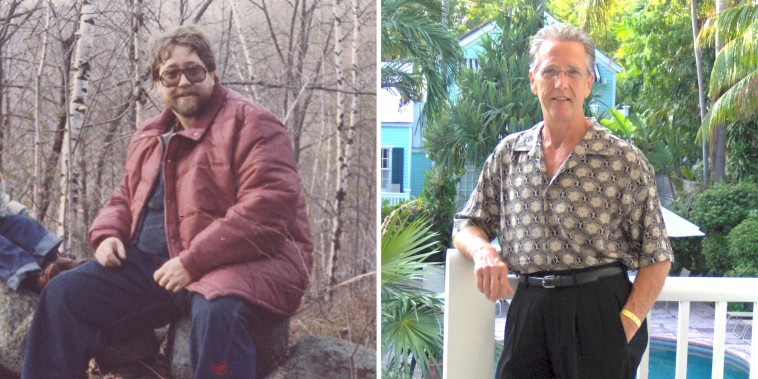 """Bill Anderson, creator of the """"Anderson Model for Permanent Weight Loss"""", before and after his journey."""