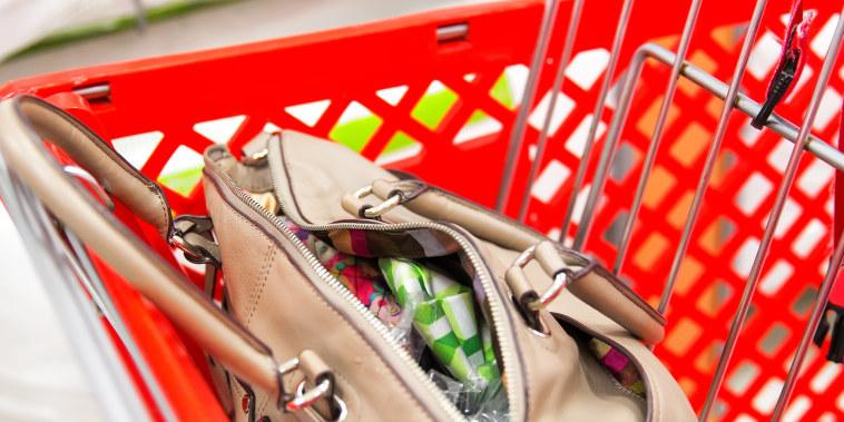 open handbag or pocketbook