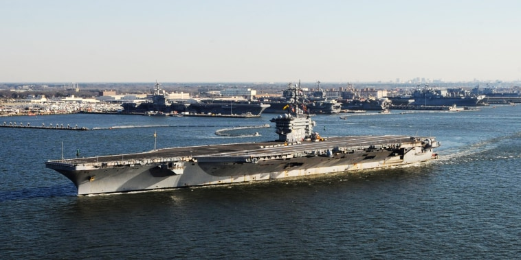 USS Dwight D. Eisenhower Departs For Deployment