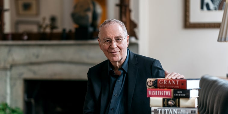 Author Ron Chernow in his Brooklyn Heights home in New York on Sept. 15, 2017.