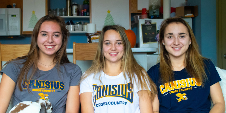 From left to right, Grace Hausladen, Emily Scheck, Justyna Wilkinson.