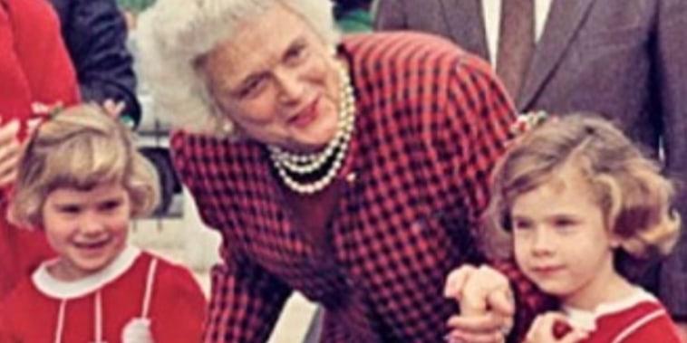 Barbara Bush, Jenna, and Barbara Bush.