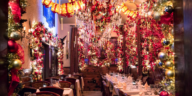 This Italian restaurant has over $100,000 worth of holiday decorations