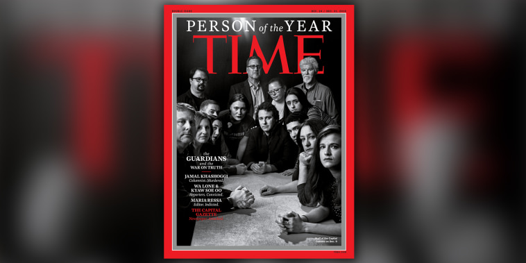 Capital Gazette staff on TIME Person of the Year cover