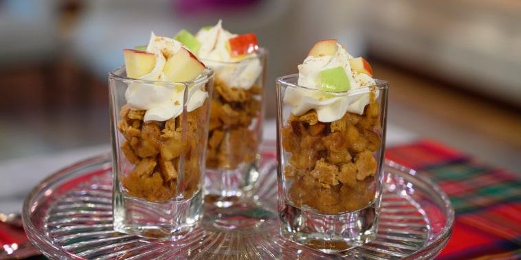 Joy Bauer's Pumpkin Pie Shots + Banana Cream Pie Shots + Apple Pie Shot + Slimming Sliders + Hot Buttered Rum
