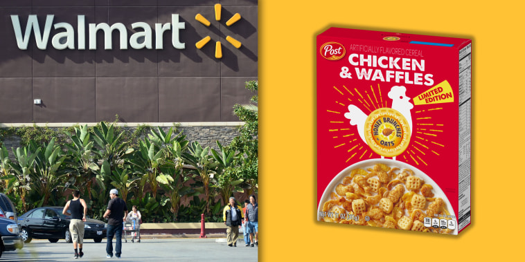 Walmart chicken and waffles cereal