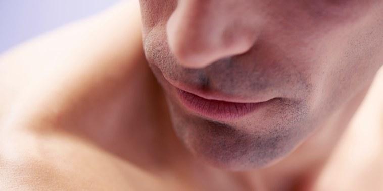 closeup of mans face